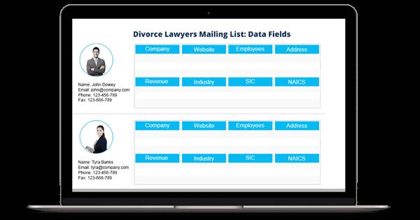 Divorce Lawyers Mailing List - Divorce Attorneys Email List